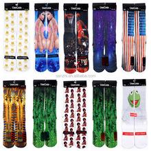 Unisex Fashion 3d Printed Basketball Star Casual/sport Crew Socks for Girls/boys