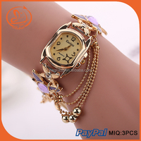 Watch woman gold & Watches ladies fashion watch diamond watch & Vogue watch for women bracelet watch