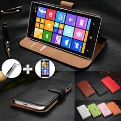 Hot selling Wholesale China Magnetic Genuine Smooth Leather Phone Case for Nokia Lumia 930 with Belt Clip