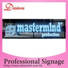 Custom Colorful frontal iluminado pantalla LED letrero para exterior