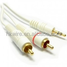 3.5mm Stereo Jack Socket to Twin Phono RCA Plugs Adapter Cable