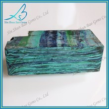 Uncut green raw turquoise for gemstone making