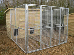 Galvanized or pvc coated durable welded wire large dog kennel