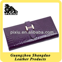 Manufacturer Fashionable Custom Genuine Leather Ladies Purse