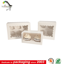 custom food grade paper cupcake packaging with logo printting