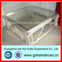 aluminum mobile stage,aluminum glass stage(15 days delivery time)
