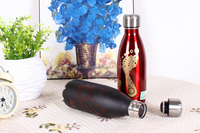 500ml Portable Belt Cow Water Bottle My Bottle Vacuum Flasks Thermoses Garrafa Termica Infantil My Bottle Copo Termico