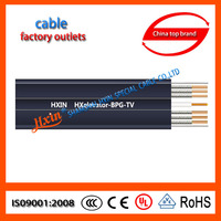 HXELEVATOR-BPG-TV PVC cable shielded with steel wire rope Elevator video cable