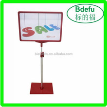 A4 Plastic Poster Display Stand for supermarket