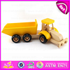 Promotional gift Small trailer wooden toy truck for kids,DIY Assemble And Paint Wooden Toy Trucks for children W04A174