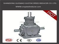 Direction change gearbox with good efficiency