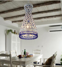 Murano iron wire pendant lamp with cleaning Crystal