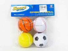 Kids sport toy ball football basket ball volleyball tennis 4 pcs PU anti stress ball