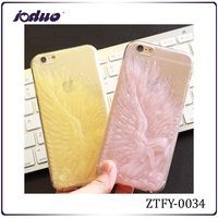 New arrival 2015 transparent Angel's Wings silicon rubber phone case