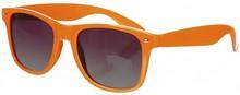 neon orange wayfarer sunglasses with UV 400 lenses