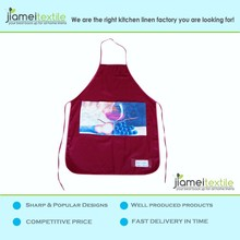 Polyester Kitchen Aprons with Printed Designs