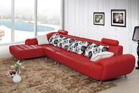 2015 leather sofa L-shape genuine leather sofa set