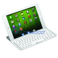 Cheap 3 in 1 Wireless Aluminum Bluetooth Keyboard Cover for ipad mini