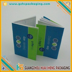 China Manufacture Factory Supply saddle stitch booklet book Printing/Bank Book Printings