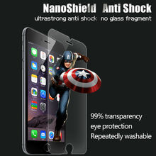 Accessories for phone nano anti-shock protective shield for iphone6 plus impact proof screen film