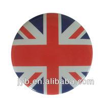 custom soft enamel metal tin badge for country/UK badge button