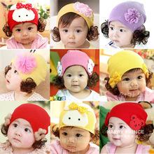 Sombrero de la peluca Otoño e invierno Sombrero del bebé