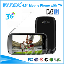 OEM 4.5 inch 3G DVB-T2 Phone China TV Mobile Phone Software