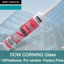 Acetic cure glass sealant made from 100% silicone for doos and windows
