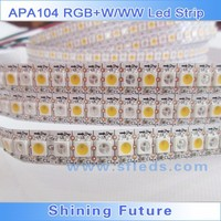 DC5V 144leds 5M/Roll APA104 RGB+W flexible led strip, white/ black PCB APA104 RGB+W addressable led strip