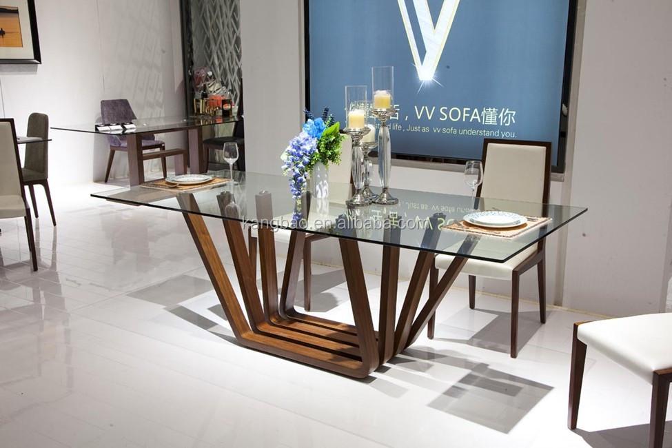 marco de fotos de mesa de comedor de madera moderna base de acero mesa de