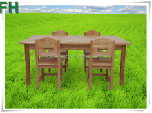 high quality kids study solid wooden table and chair