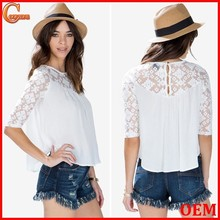Sexy Lace sleeves blouse ladies popular wholesale festival items