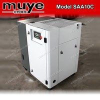 No mute and AC Power,10 HP power source Screw Air Compressor with rotary pump