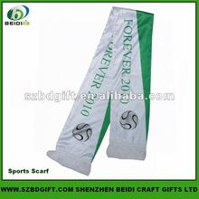 Custom Polyester Printed Football Fan Scarf / Knitted Scarf