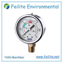 Medidor de pressão de tubo bourdon medidor de pressão medidor de pressão de óleo
