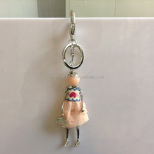Lovely Bling Dress Dolls For Girls Keychain Supplies Cell Phone Charms/Bag Charms Keyrings