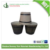 Garden Decoration Wooden Barrel Planters Bamboo Fiber flower pot