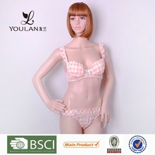 Customized Elegant Sexy Girl Strap Japanese Girl Bra Panty Set