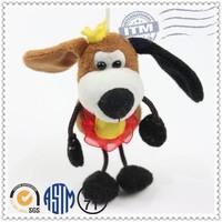Factory made plush mascot custom plush toy imperial crown key chain
