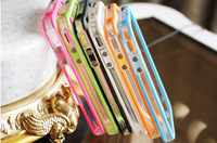 Transparent Dual Color Ultra thin Slim TPU Bumper Frame Cover Case for iPhone 4S 4
