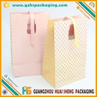 Customized die cut handle paper bag for shopping & brown kraft paper bag