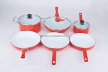 Green Living Nonstick Ceramic Coating Cookware set, 9-Piece, New design high quality hot pot