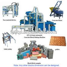 Papelería económico alta capacidad QT3-20 manual de la máquina de ladrillo