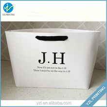 Custom lamination shopping paper bag with twisted rope handle