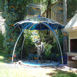 GoodLife 100% virgin material ten years warranty 6mm thick bule polycarbonate sheet for summer house green house