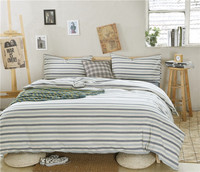 2015 bedding 300T sateen stripe dyeing quilt cover set gifts