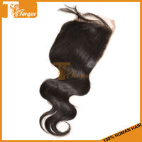 2014 Lace Closure Grade 5A Malaysian Virgin Hair Body Wave 18 inches 2pcs/Set Natural Black Color Density 120%-130% Size 4*4