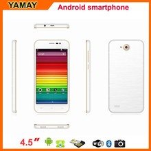 high quality cell phone 4.5inch Quad Core MTK6582 1.3GHz Android 4.4.2 KitKat GPS WiFi 3G WCDMA Sim Card 8.0MP Camera Smartphone