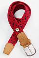 Multi color men ' s casual trenzada hecha punto elástico tejido elástico cintura con una aleación de la hebilla
