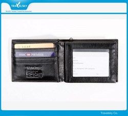 New style RFID blocking genuine leather wallet
